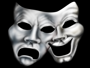 Merging theater masks